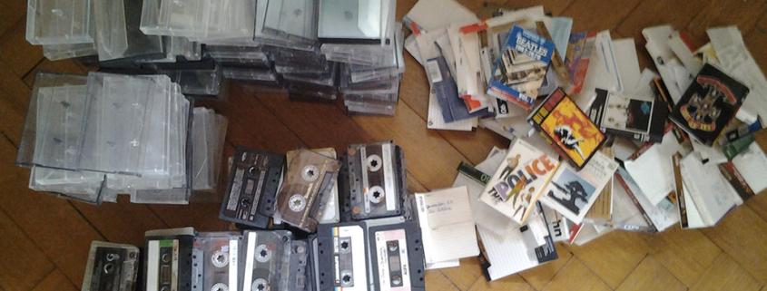 vide cassettes audio