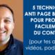 5 techniques anti-page blanche - Gaétan d'Yvoire
